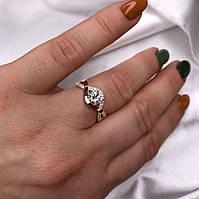 Кольцо женское * Navsegda*серебряное с золотыми пластинами 375 пробы,размер 18