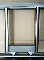 2 двери. Раздвижная система дверей шкафа купе. Шампань, фото 1