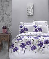 Комплект постельного белья First Choice Ranforce Bozca Lila Двуспальный Евро