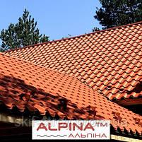 Металлочерепица АЛЬПИНА ALPINA 0.5мм матовый полиэстр Украина, фото 3