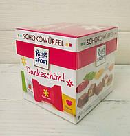 Подарочный набор шоколадных конфет с начинкой ассорти Ritter Sport Schokowürfel 192г (Германия) Dankeschon