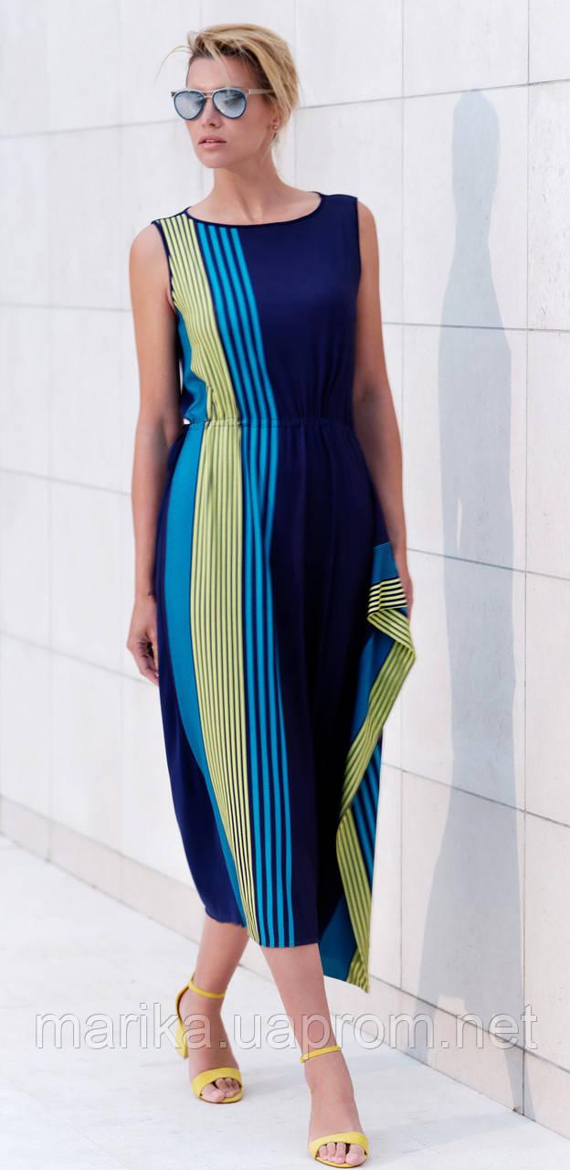 Пляжное длинное  темно синее платье