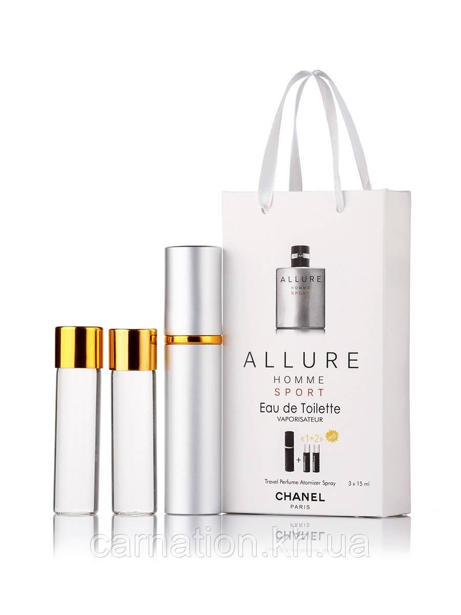 Подарочный набор Chanel Allure Homme Sport 3 по 15 мл