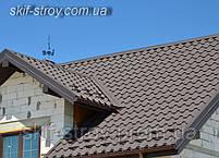 Металлочерепица Альпина/Премиум 0,45мм глянцевый полиэстр Италия Arvedi, фото 5