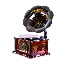"""Проигрыватель - Граммофон виниловых пластинок Daklin """"Синатра"""", (дерево, вишня)"""