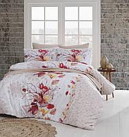 Комплект постельного белья First Choice Ranforce Rihanna Ekru Двуспальный Евро