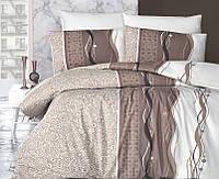 Комплект постельного белья First Choice Ranforce Neron Kahve Двуспальный Евро