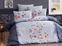 Комплект постельного белья First Choice Ranforce Karen Lacivert Двуспальный Евро