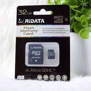 Micro SD Ridata 32GB class 10 + adapter