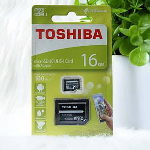 "Micro SD ""Toshiba"" 16GB class 10 + adapter"