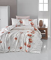 Комплект постельного белья First Choice Ranforce Leora Somon Двуспальный Евро