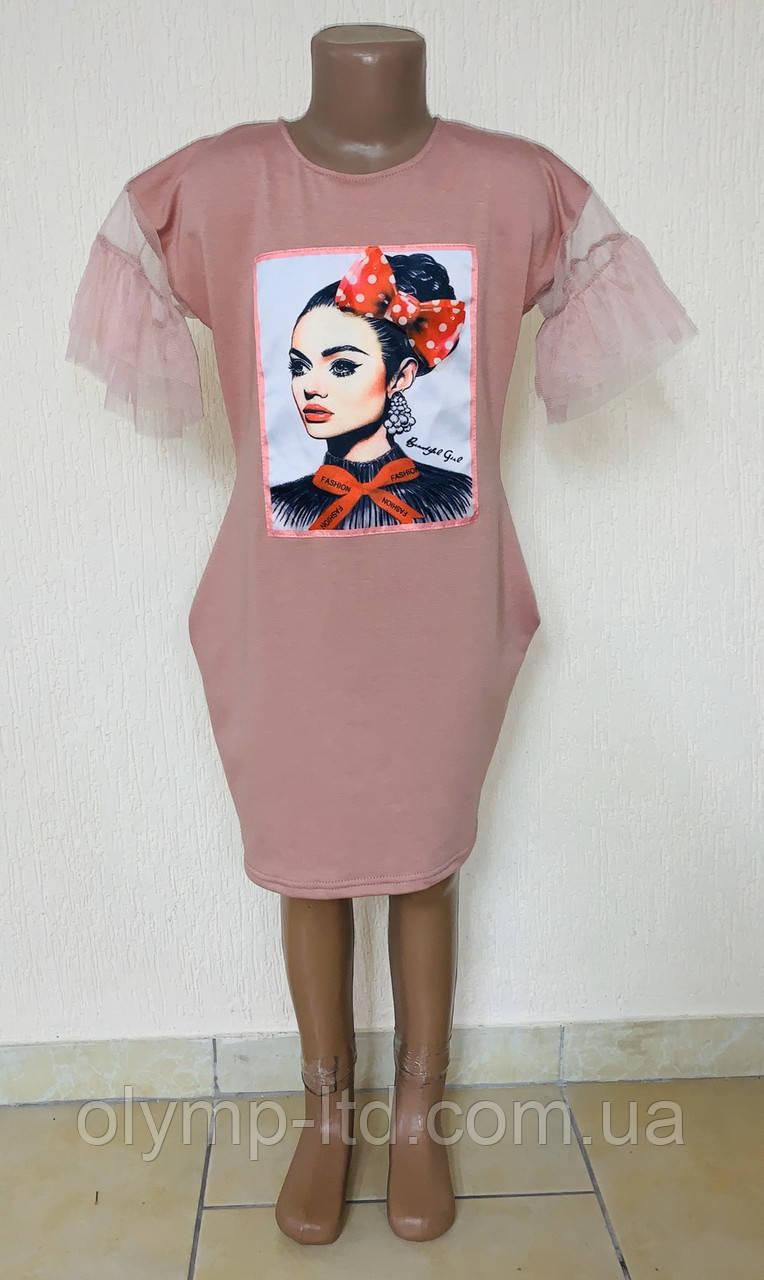 Платье  30-38р-р двух нить фатин апликация.