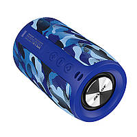Колонка автономная ZEALOT S32 Dark blue Camouflage (Зеалот) TF Блютуз AUX для ПК мобильного тф аудио плеера