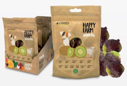 Лакомство мясное HAPPY FARM, ягненок с киви, 80гр, 12пач/уп (цена за 1 пач) *