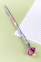 Ручка Бриллиант с разноцветными чернилами (малиновый)