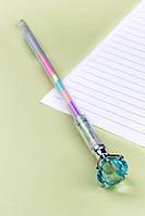 Ручка Бриллиант с разноцветными чернилами (голубой)