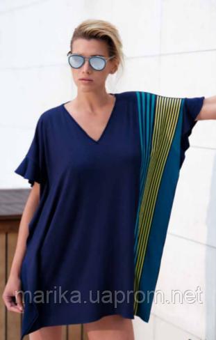 Пляжная блуза с полосами