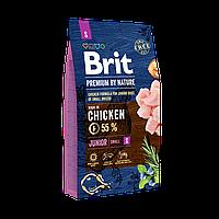 Сухой корм Brit Premium Dog Junior S для щенков и молодых собак мелких пород со вкусом курицы 8 кг