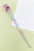 Ручка Зайчик с разноцветными чернилами (малиновый)