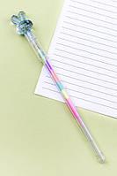 Ручка Зайчик с разноцветными чернилами (голубой)