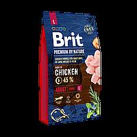 Сухой корм Brit Premium Dog Adult L для взрослых собак крупных пород с мясом курицы 8 кг