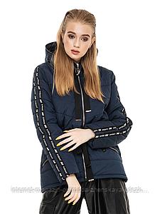 """Модная женская курточка с кулиской на талии больших размеров """"Залина"""""""