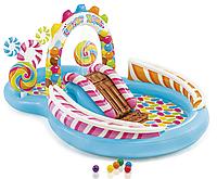 Надувной игровой центр-бассейн Intex 57149 Карамель
