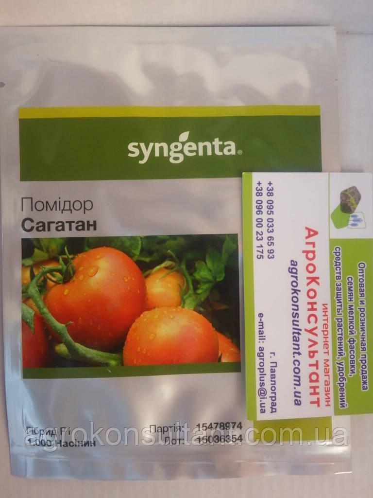 Семена томата Сагатан F1 (Syngenta) 1.000 семян — средне-ранний, красный, детерминантный, круглый