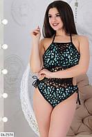 Модный красивый женский купальник с кружевом р-ры 48-58 арт 01028