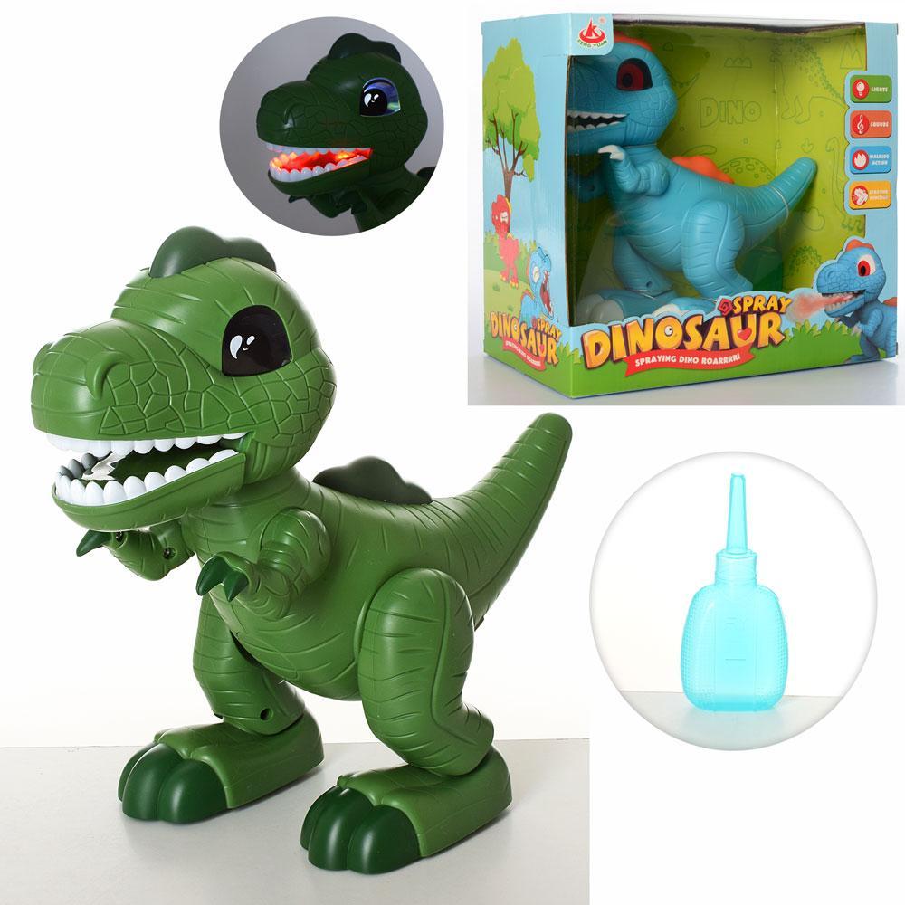 "Игрушка ""Динозавр"", музыка, звук, свет, дым, ходит, 2 цвета, 28311"