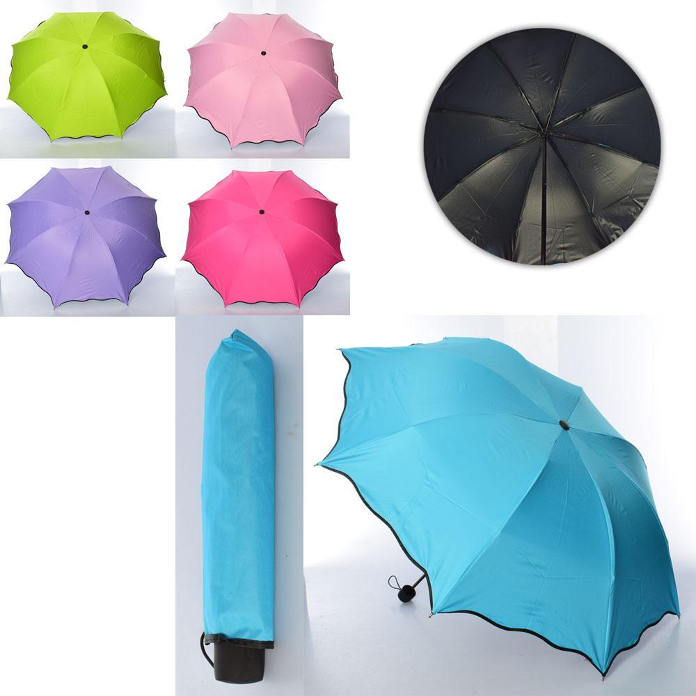 Зонтик механический, трость, микс цветов, складной, MK4041