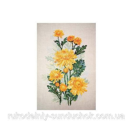 Набор для вышивания крестом ТМ Марья Искусница 04.004.06 Желтые хризантемы