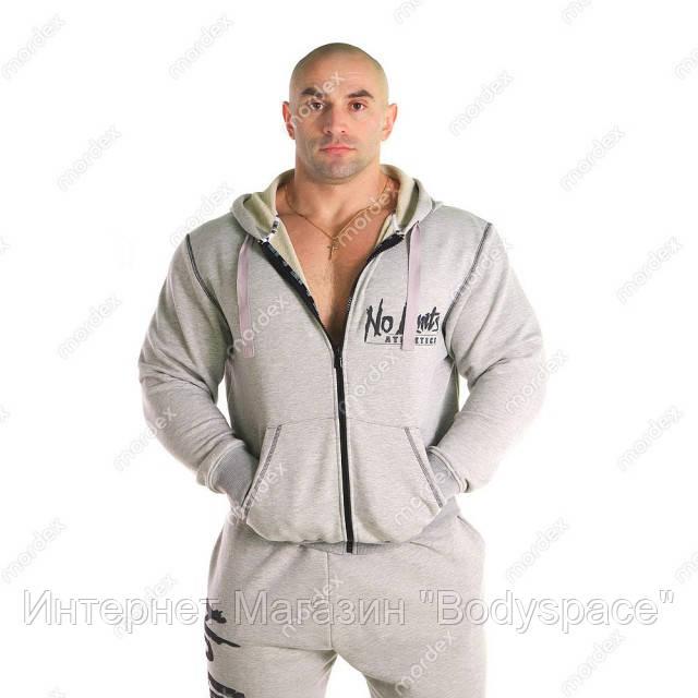 No Limits, Худи с капюшоном на замке Mesh Zipped Hoodie MD6289, серая