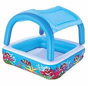 Детский надувной бассейн квадратный Bestway 52192 (140х140х114)