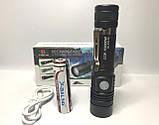 Тактический фонарик  Bailong BL 518 T6 50000W Pro фонарик 600 Lumen Черный, фото 6