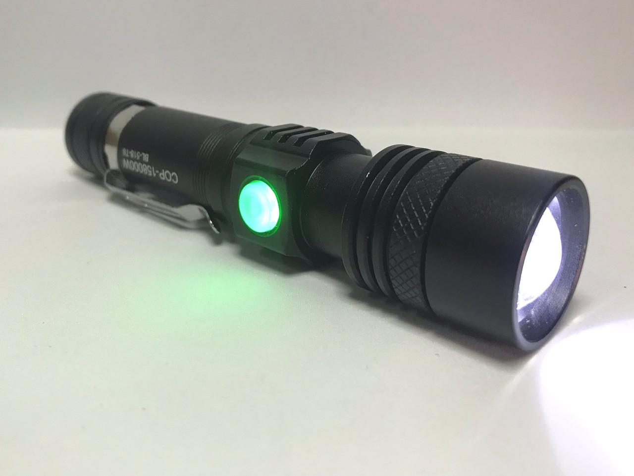 Тактический фонарик  Bailong BL 518 T6 50000W Pro фонарик 600 Lumen Черный