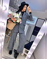 Женский брючный костюм с брюками клеш и прямым пиджаком 20KO501, фото 1