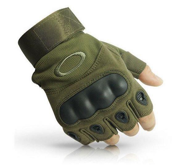 """Перчатки тактические беспалые с косточкой """"OAKLEY"""" Olive"""