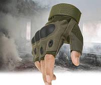 """Перчатки тактические беспалые с косточкой """"OAKLEY"""" Olive, фото 2"""