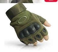 """Перчатки тактические беспалые с косточкой """"OAKLEY"""" Olive, фото 3"""