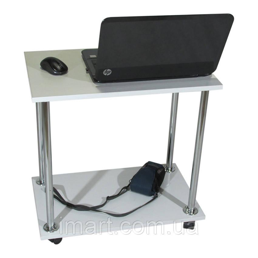 Столик для ноутбука Тавол Loco Белый Хром