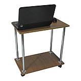 Столик для ноутбука Тавол Loco Орех Хром, фото 3