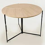 Стол раскладной круглый Тавол Пиланго D110 Дуб Сонома, фото 4