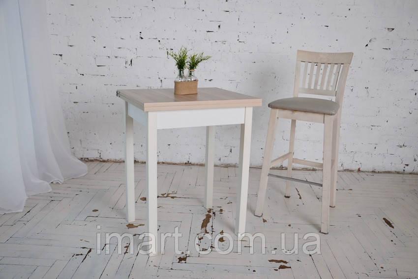 Стол кухонный раскладной Тавол Компакт ноги прямые дерево 50 см х 60 см х 75 см  Ясень