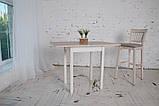 Стол кухонный раскладной Тавол Компакт ноги прямые дерево 50 см х 60 см х 75 см  Ясень, фото 2