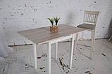Стол кухонный раскладной Тавол Компакт ноги прямые дерево 50 см х 60 см х 75 см  Ясень, фото 3