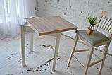 Стол кухонный раскладной Тавол Компакт ноги прямые дерево 50 см х 60 см х 75 см  Ясень, фото 4