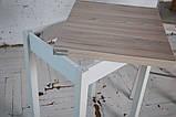 Стол кухонный раскладной Тавол Компакт ноги прямые дерево 50 см х 60 см х 75 см  Ясень, фото 5