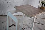Стол кухонный раскладной Тавол Компакт ноги прямые дерево 50 см х 60 см х 75 см  Ясень, фото 6
