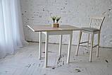 Стол кухонный раскладной Тавол Компакт ноги прямые дерево 50 см х 60 см х 75 см  Ясень, фото 7